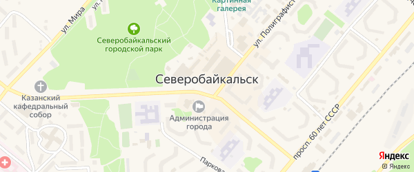 Переулок Охотника на карте Северобайкальска с номерами домов