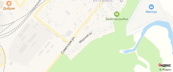 Морская улица на карте Северобайкальска с номерами домов