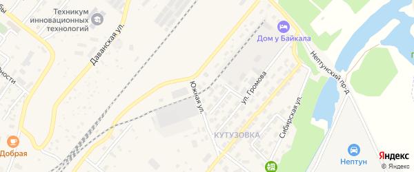 Уральский переулок на карте Северобайкальска с номерами домов