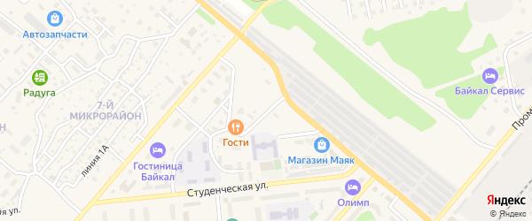Апрельский переулок на карте Северобайкальска с номерами домов