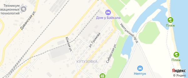 Улица Громова на карте Северобайкальска с номерами домов