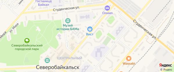 Улица Полиграфистов на карте Северобайкальска с номерами домов