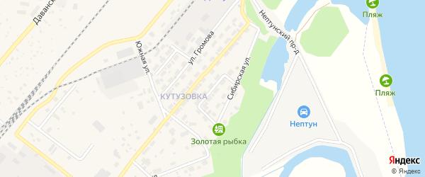 Улица Энтузиастов на карте Северобайкальска с номерами домов