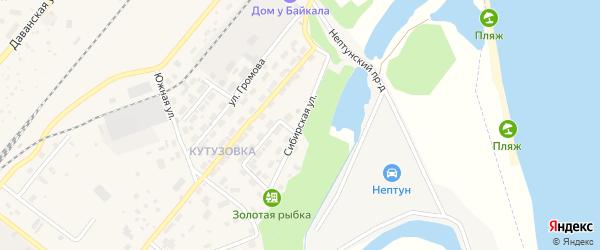 Сибирская улица на карте Северобайкальска с номерами домов