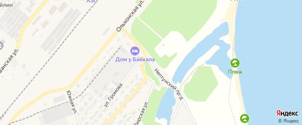 Нептунский проезд на карте Северобайкальска с номерами домов