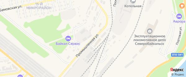 Промышленная улица на карте Северобайкальска с номерами домов