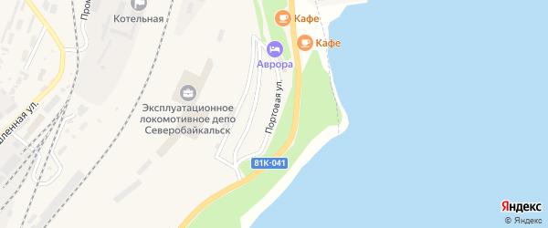 Портовая улица на карте Северобайкальска с номерами домов