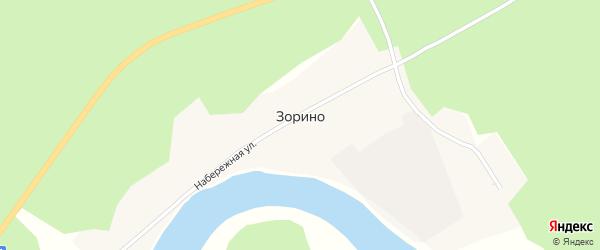 Лесная улица на карте села Зорино с номерами домов