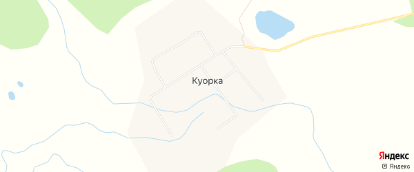 Карта улуса Куорка в Бурятии с улицами и номерами домов