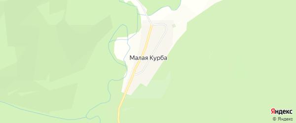 Карта поселка Малой Курбы в Бурятии с улицами и номерами домов