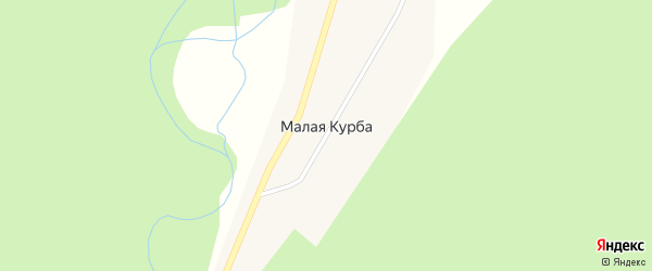 Школьная улица на карте поселка Малой Курбы с номерами домов