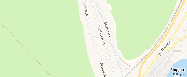 Лесная улица на карте поселка Нижнеангарска с номерами домов