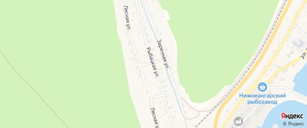 Рыбацкая улица на карте поселка Нижнеангарска с номерами домов
