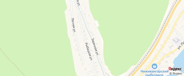 Заречная улица на карте поселка Нижнеангарска с номерами домов