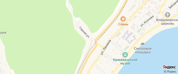 Горная улица на карте поселка Нижнеангарска с номерами домов