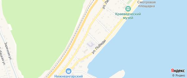 Пионерский переулок на карте поселка Нижнеангарска с номерами домов