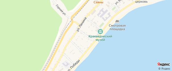 Заводской переулок на карте поселка Нижнеангарска с номерами домов