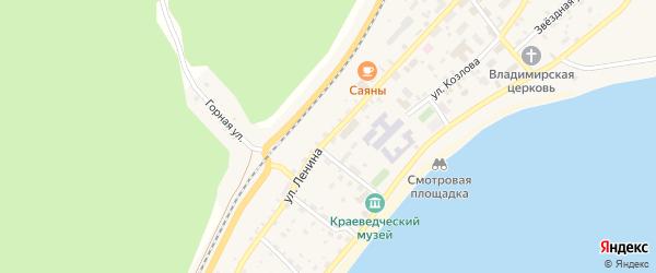 Улица Ленина на карте поселка Холодного с номерами домов