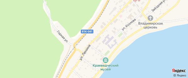 Улица Ленина на карте поселка Нижнеангарска с номерами домов