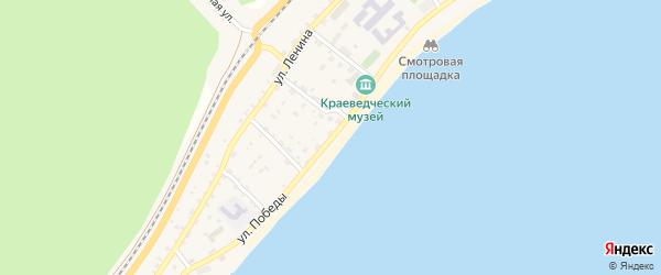 Улица Победы на карте поселка Нижнеангарска с номерами домов