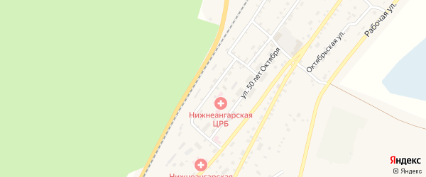 Ангарская улица на карте поселка Нижнеангарска с номерами домов
