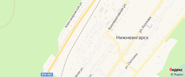 Геологическая улица на карте поселка Нижнеангарска с номерами домов