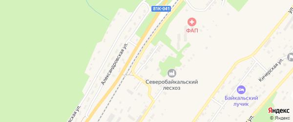 Первомайская улица на карте поселка Нижнеангарска с номерами домов