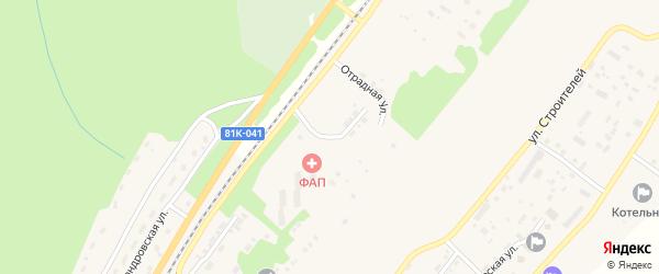 Брусничная улица на карте поселка Нижнеангарска с номерами домов