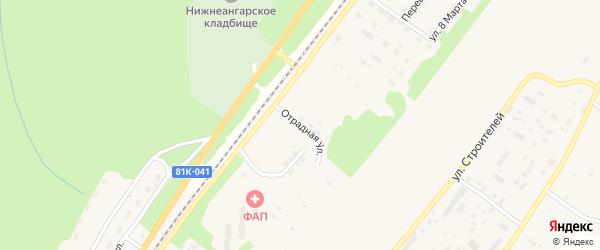 Отрадная улица на карте поселка Нижнеангарска с номерами домов