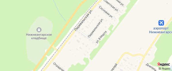 Березовая улица на карте поселка Нижнеангарска с номерами домов