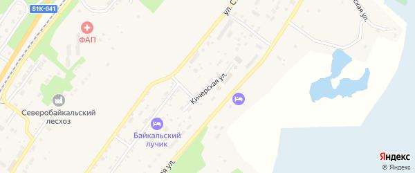 Кичерская улица на карте поселка Нижнеангарска с номерами домов