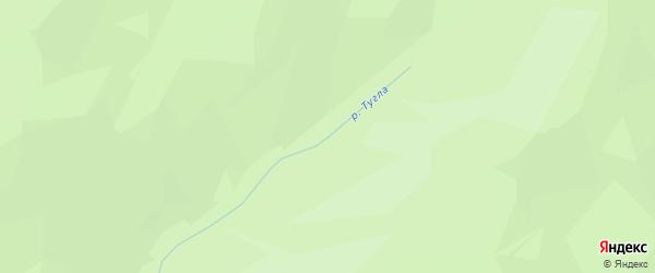 Карта заимки Гурта Тугла в Бурятии с улицами и номерами домов
