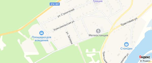 Сибирская улица на карте села Баргузина с номерами домов