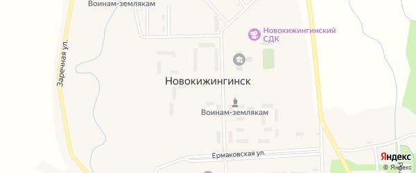 Речная улица на карте села Новокижингинск с номерами домов