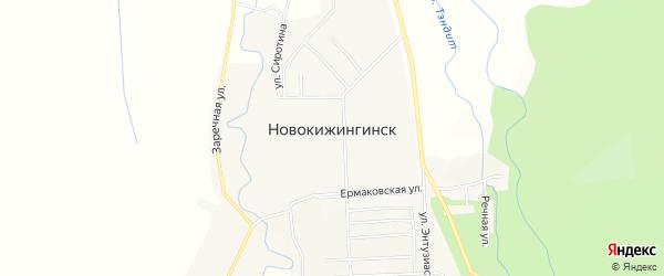 Местность Урочище Зун-Шибирь на карте села Новокижингинск с номерами домов