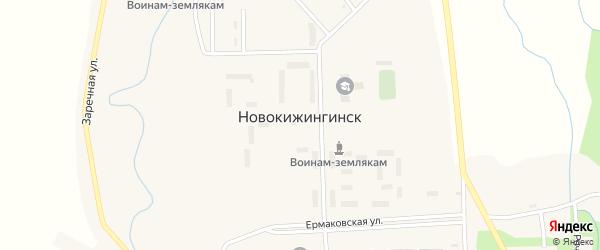 Речная 1-я улица на карте села Новокижингинск с номерами домов