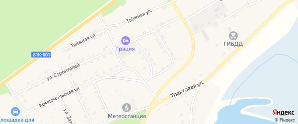 Улица Мелиораторов на карте села Баргузина с номерами домов