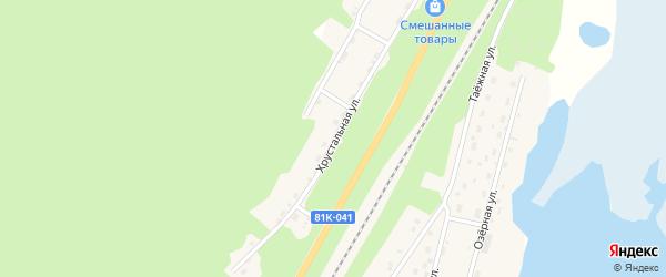 Хрустальная улица на карте поселка Нижнеангарска с номерами домов