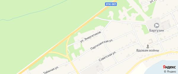 Улица Энергетиков на карте села Баргузина с номерами домов