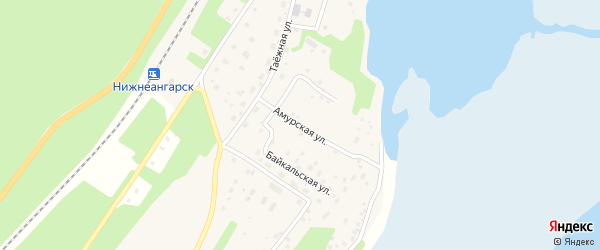 Амурская улица на карте поселка Нижнеангарска с номерами домов