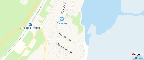 Магистральная улица на карте поселка Нижнеангарска с номерами домов