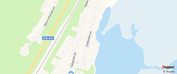 Озерная улица на карте поселка Нижнеангарска с номерами домов