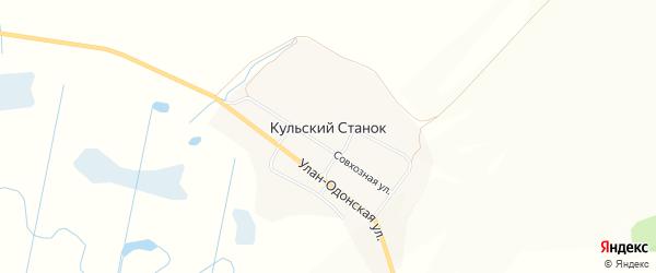 Местность Заха на карте улуса Кульского Станка с номерами домов