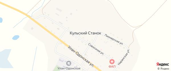 Совхозная улица на карте улуса Кульского Станка с номерами домов