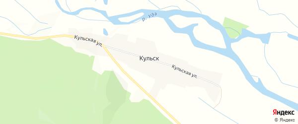 Карта села Кульска в Бурятии с улицами и номерами домов