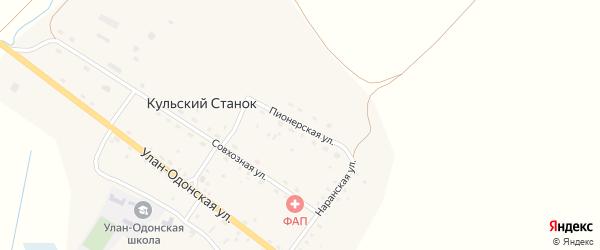 Пионерская улица на карте улуса Кульского Станка с номерами домов