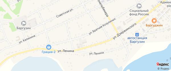 Улица Братьев Козулиных на карте села Баргузина с номерами домов