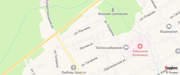 Улица Ш.Петефи на карте села Баргузина с номерами домов