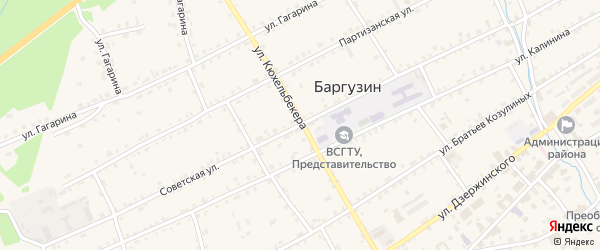 Улица Кюхельбекера на карте села Баргузина с номерами домов