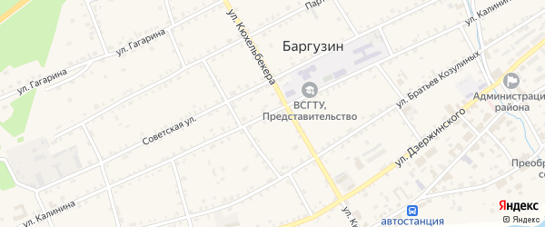 Улица Калинина на карте Юбилейного поселка с номерами домов